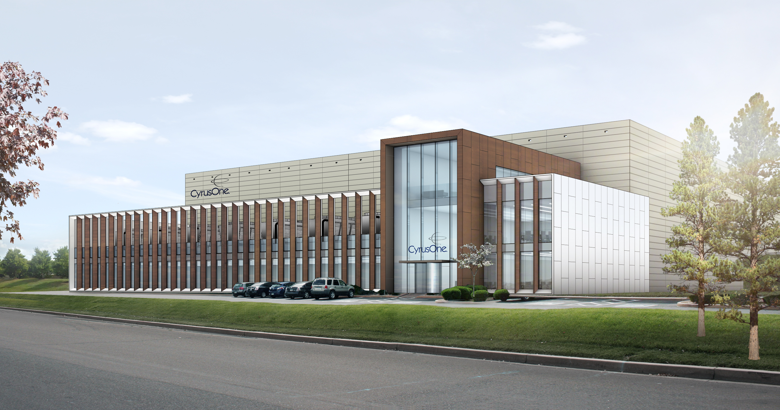 CyrusOne's new multi-tenant data center in Northern Virginia will include 240,000 sq ft of raised-floor space, 36,000 sq ft of Class A office space and up to 48 MW of critical load when completed. (Photo: Business Wire)