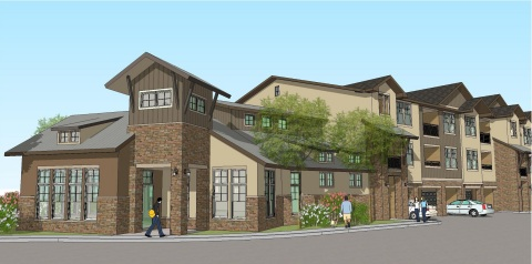 Construction has begun on the first apartment community ever to be built in Denver, Colorado's prestigious Ken Caryl Ranch neighborhood. It's the first such development in the submarket in the past 13 years. Designed and built by San Antonio-based Embrey Partners, the first units are scheduled for occupancy in early 2015. (Graphic: Business Wire)