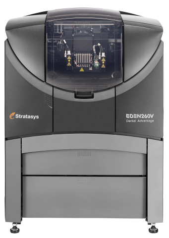 The Objet Eden260V Dental Advantage 3D Printer offers dental and orthodontic labs affordable access  ...