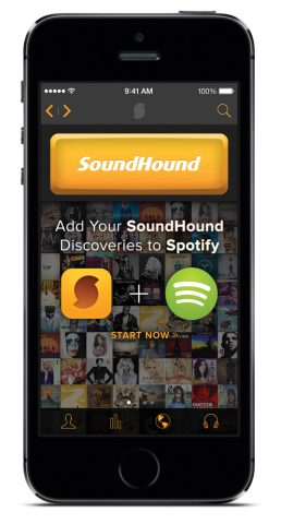 SoundHound and Spotify Team Up to Make Playlist Creation Seamless (Photo: Business Wire)