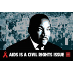 "AIDS Healthcare Foundation recently launched a new national awareness and advocacy campaign headlined ""AIDS is a Civil Rights Issue."" (Graphic: Business Wire)"