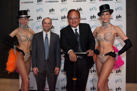 Jason Gastwirth, Caesars Entertainment senior vice president of marketing and entertainment poses wi ...