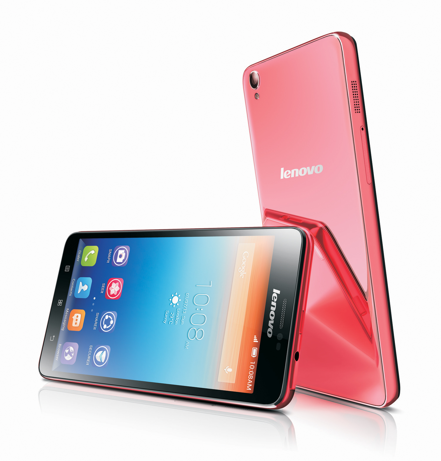 The new colorful S850 Lenovo smartphone is designed for fashion savvy consumers and shutterbugs. (Photo: Business Wire)