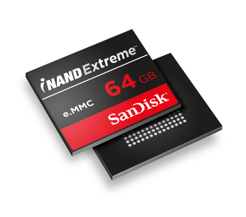 SanDisk introduces its next-generation iNAND Extreme embedded flash drive for smartphones and tablet ...