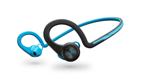 The stable, comfortable Plantronics BackBeat FIT wireless stereo headphones provide all the power, s ...
