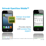 Schwab's OpenView Mobile app for registered investment advisors (RIAs) (Graphic: Business Wire)