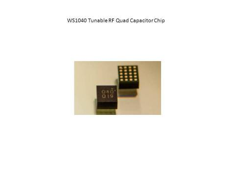 At MWC 2014, WiSpry, Inc. announces the WS1040 Tunable RF quad capacitor single chip, enabling wearables and smartphone applications requiring small form factor, low power and better connectivity. (Photo: Business Wire)
