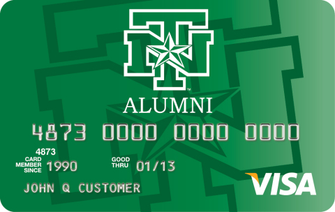 Commerce Bank is offering a Visa(R) credit card with rewards to members of the University of North Texas Alumni Association (UNTAA). (Graphic: Business Wire)