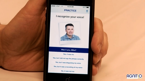 With AGNITiO Voice iD, your mobile phone recognizes only your voice, in any language. (Photo: Business Wire)