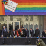 Project planners and public officials celebrate the official opening of the John C. Anderson Apartments, one of the nation's first LGBT-friendly low-income senior housing developments, located in the heart of Philadelphia's Gayborhood. (Photo: Business Wire)