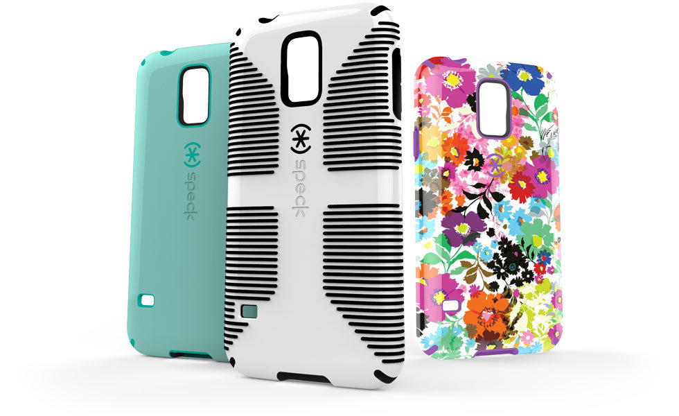 Speck's new case lineup for Samsung Galaxy S5 - CandyShell, CandyShell Grip, and CandyShell INKED. (Photo: Business Wire)