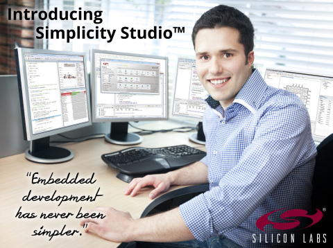 With Silicon Labs' Simplicity Studio, embedded development has never been simpler. (Graphic: Business Wire)