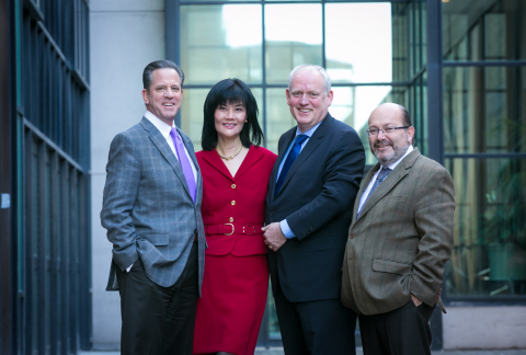 Maritz Travel Company Adds Three Global General Managers (Pictured L to R: David Peckinpaugh, president of Maritz Travel Company; Ping He, global general manager of Asia Pacific for Maritz Travel Company; Ben Goedegebuure, global general manager of Europe, the Middle East and Africa for Maritz Travel Company; and Eduardo Chaillo, global general manager of Latin America and Mexico for Maritz Travel Company.) (Photo: Business Wire)