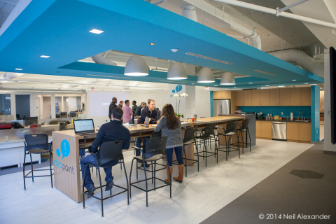 IdeaPaint announced the opening of its new headquarters located at 40 Broad Street in Boston, MA. The space was designed by Fusion Design Consultants and represents the height of collaborative office design. (Photo: Business Wire)