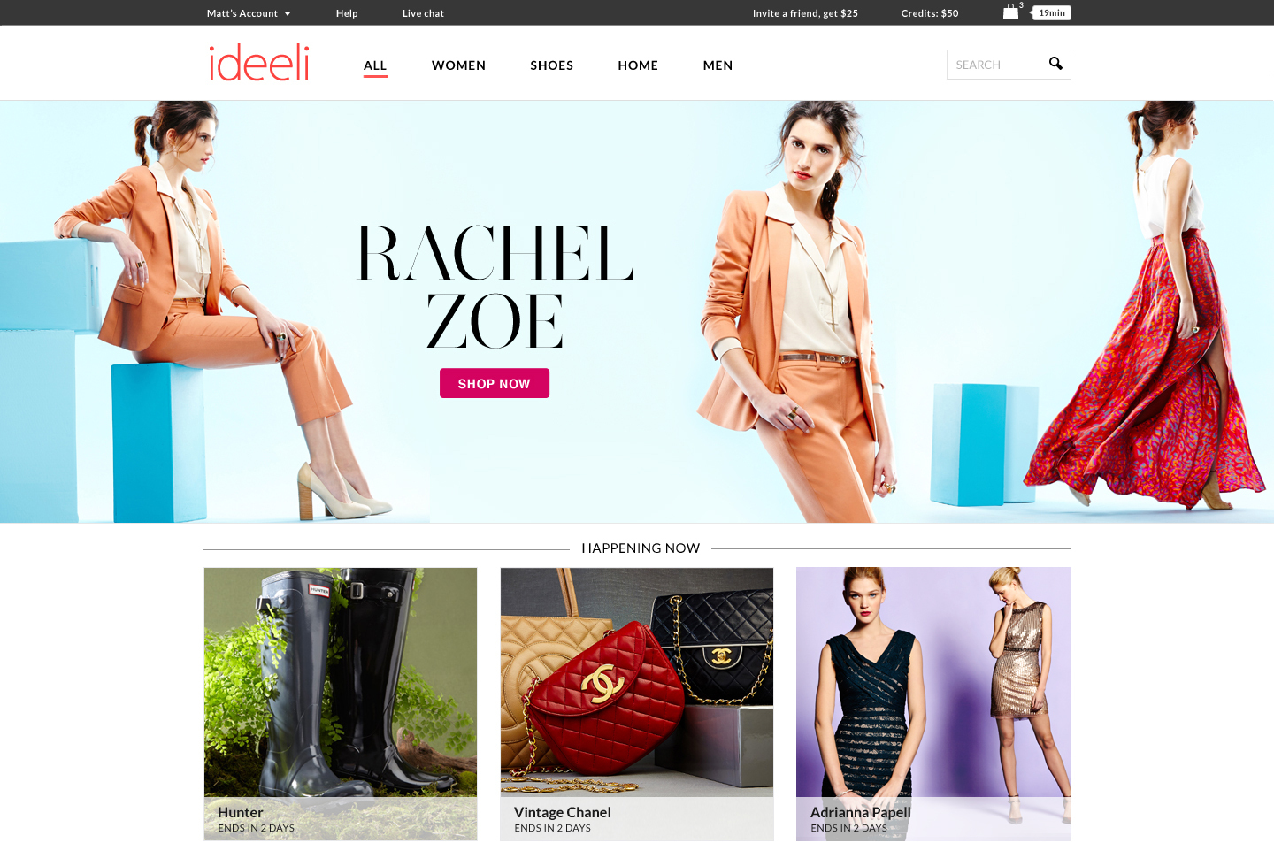 ideeli.com's newly redesigned website. (Photo: Business Wire)