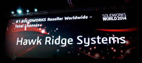 Hawk Ridge Systems awarded #1 Worldwide SolidWorks Reseller at SolidWorks World 2014. (Graphic: Business Wire)