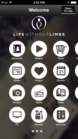 The Life Without Limbs ministry has launched a free, innovative mobile application now available for ...