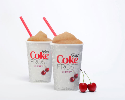 Diet Coke FROST Cherry will be available as a Slurpee(R) exclusively at 7-Eleven stores starting today with broader availability at other retailers by the end of May. (Photo: Business Wire)