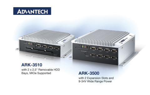 Advantech ARK-35 Series Fanless Embedded Box PCs combine all the benefits of performance, expansion, ...