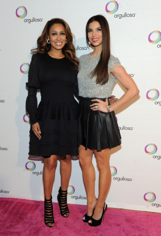 "Actresses La La Anthony, left, and Roselyn Sanchez attend the debut of the P&G Orgullosa production of ""Nueva Latina Monologues"" at the Helen Mills Theater, Wednesday, Feb. 26, 2014 in New York. The Nueva Latina Monologues personifies the unique and complex journey of the bicultural Latina experience through emotion, comedy and authenticity. Visit Facebook.com/Orgullosa for more information. (Photo by Diane Bondareff/Invision for P&G Orgullosa)"