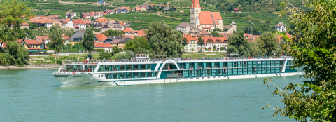 Amadeus Silver sailing the waterways of central Europe. (Photo: Business Wire)