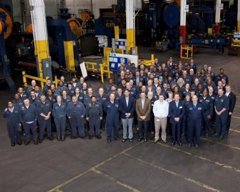 "Eaton's South Bend facility was named one of the ""Best Places to Work"" in Indiana for 2014. The plant produces transmission forgings for commercial trucks. (Photo: Business Wire)"