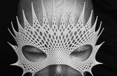 3D printed mask by Shapeways