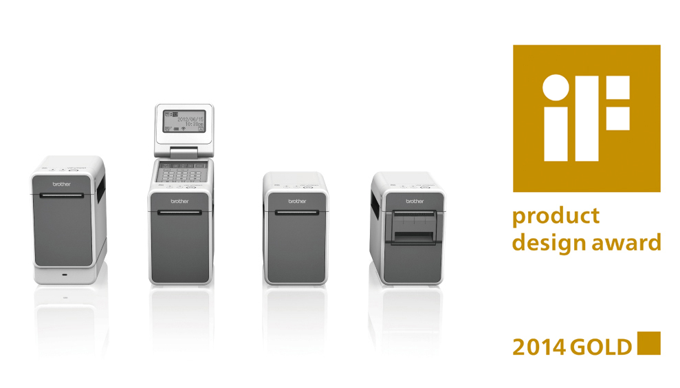 iF Gold Award 2014 Winning Product The Brother TD-2000 Series Powered Desktop Thermal Printer (Photo: Business Wire)