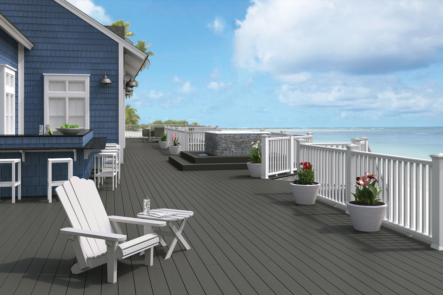 Boise Cascade will become a full-line distributor of Latitudes Decking and Railing and distributor of Deckorators CXT Railing Systems. (Photo: Business Wire)