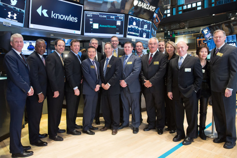 Knowles Corporation (NYSE: KN) Debuts on NYSE (Photo: Business Wire)