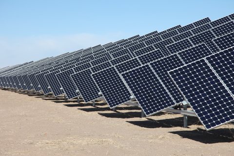 Large-scale solar generating plant (Photo: Business Wire)