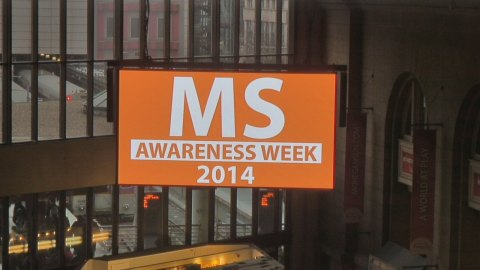 Clear Channel digital displays at South Station will hold on orange once per hour during MS Week in  ...