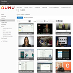 Q-Tube video jukebox in SharePoint (Graphic: Qumu).