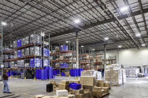 Chosen for energy efficiency and ease of installation, Natural Grocers has installed GE's LED high bay and linear lighting fixtures in its distribution center and retail stores. (Photo: General Electric)