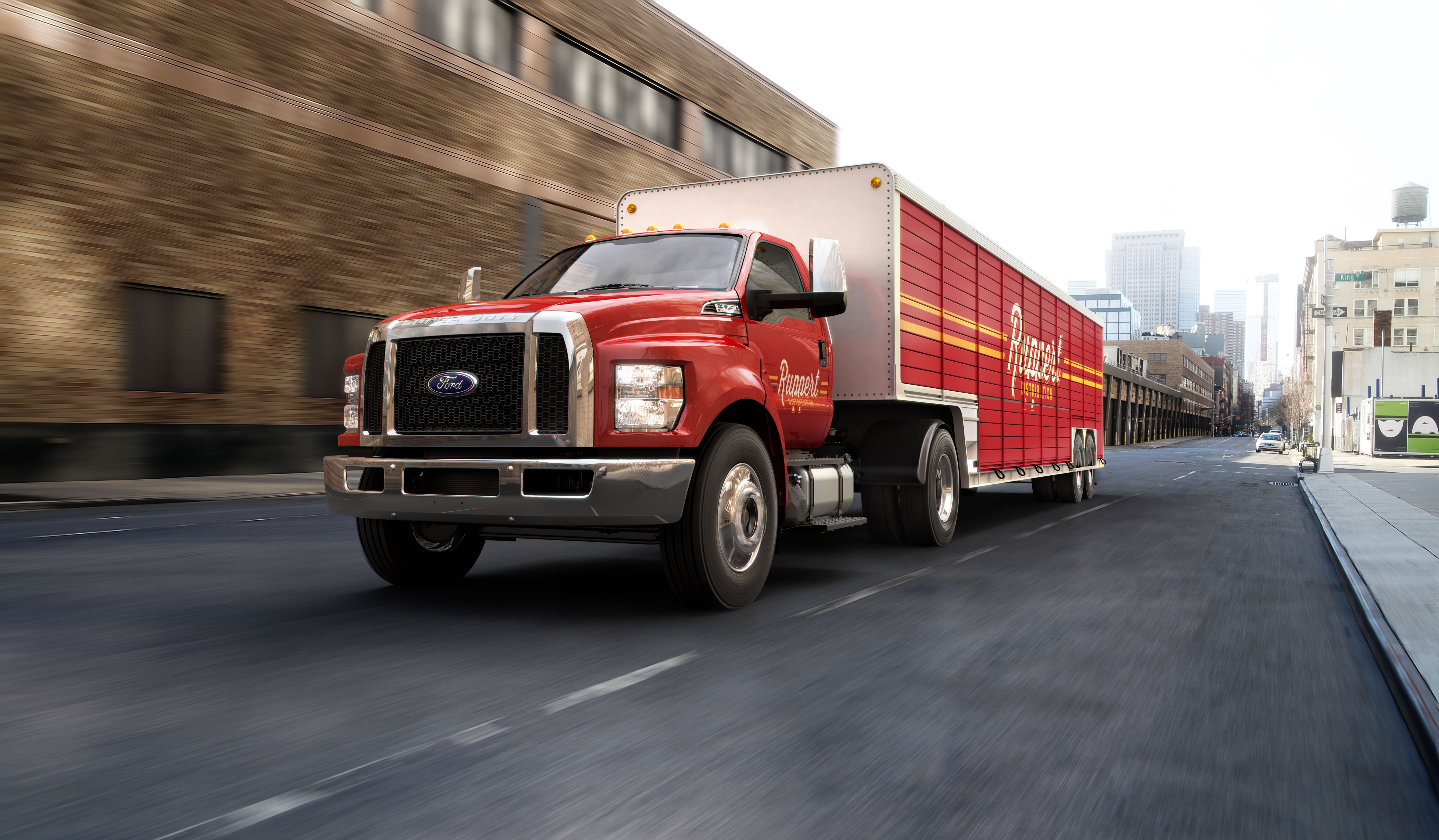 Ford, America's truck leader, today sets a new standard in medium-duty commercial work trucks with the all-new Ford F-650/F-750 - the toughest, great value and work-ready Ford medium-duty trucks ever. (Photo: Business Wire)