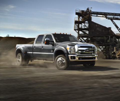 Ford F-Series Super Duty reinforces its leadership in the heavy-duty pickup truck market with engine and chassis upgrades for 2015 that together deliver best-in-class horsepower, torque and towing capacity. (Photo: Business Wire)
