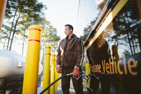 UPS today announced plans to purchase 1,000 propane package delivery trucks and install an initial 50 fueling stations at UPS locations. (Photo: Business Wire)