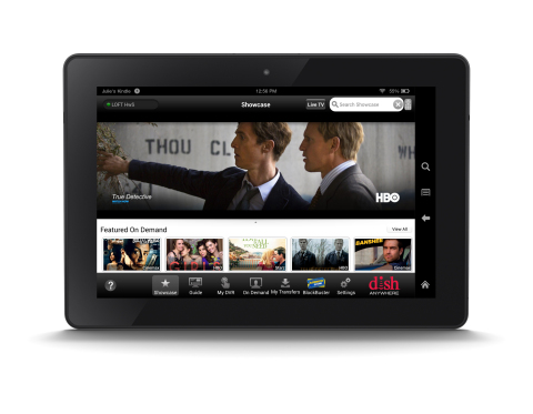 DISH Anywhere app on Kindle Fire HDX (Photo: Business Wire)