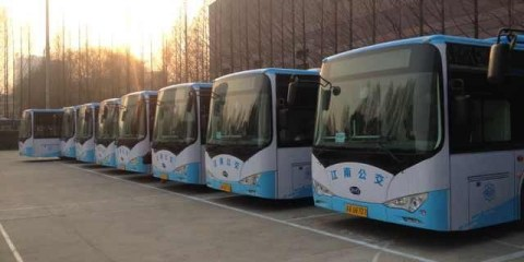 BYD all-electric, zero-emissions bus can travel 24 hours in service before charging during off-peak ...