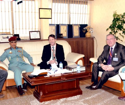 Colonel Abdul Rahman Al Hammadi during the meeting with Mr. Mark Gilmore (Photo: Business Wire)