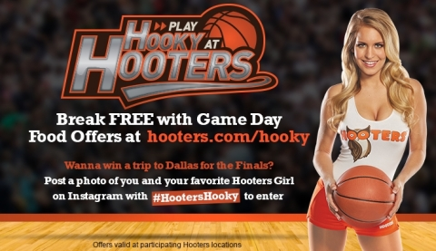 Play Hooky at Hooters this hoops season with weekly basketball game day deals, plus enter to win a trip to the college basketball finals in Dallas at www.Hooters.com/Hooky. (Photo: Business Wire)