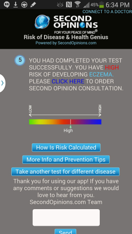 Second Opinions-Health Genius Disease Risk Calculator (Graphic: Business Wire)