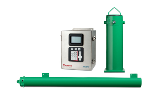 The new Thermo Scientific DensityPRO (vertical) and LevelPRO (horizontal) gamma ray gauges help industrial facilities measure process materials safely and efficiently. (Photo: Business Wire)