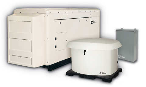 New Connect Series generator sets from Cummins Power Generation provide backup power for homeowners when weather interrupts utility power. (Photo: Business Wire)