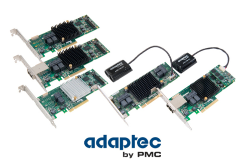 Adaptec by PMC Series 8 12Gb/s SAS RAID adapters (Photo: Business Wire)