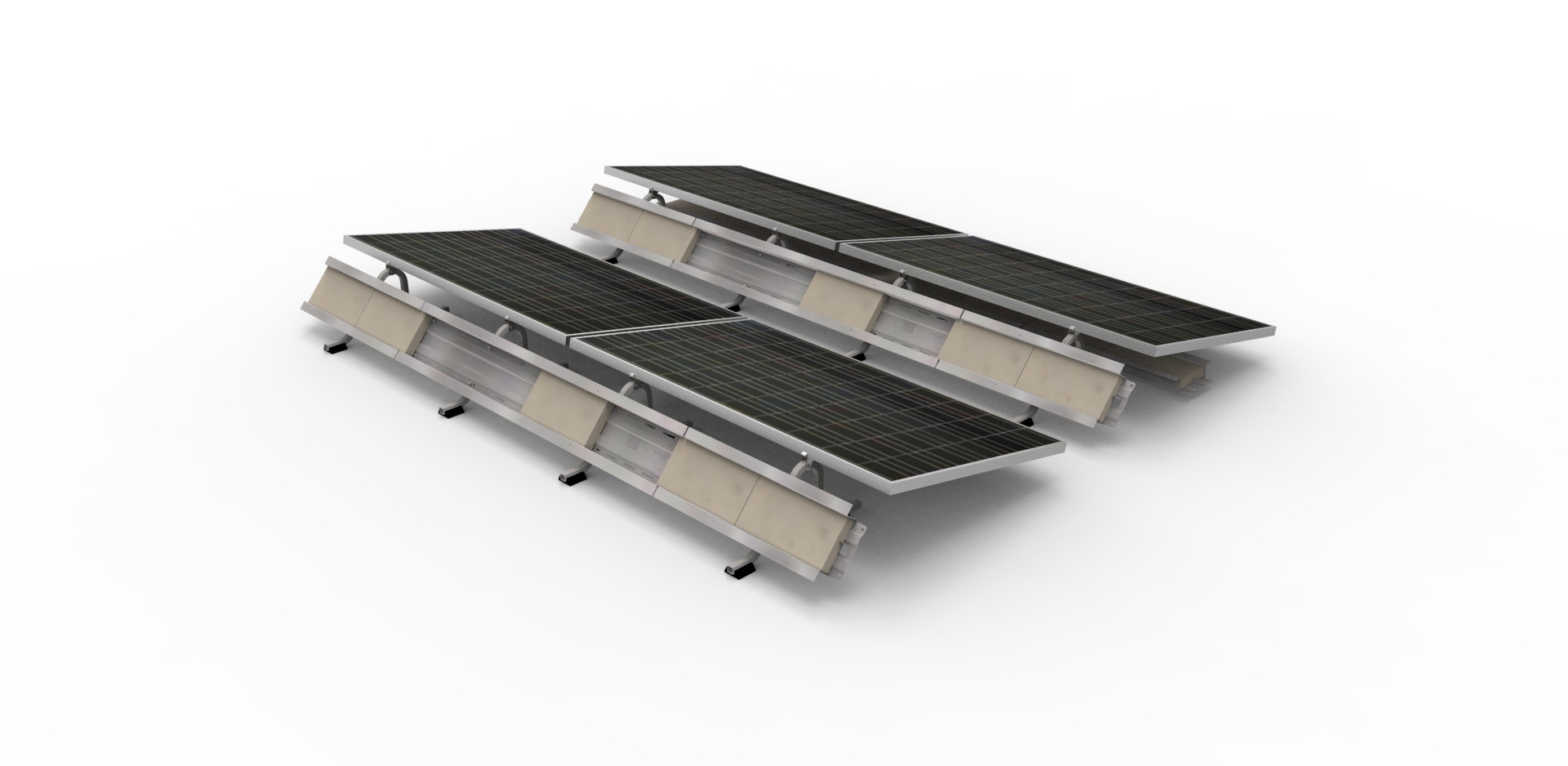 panelclaw introduces the new polar bear flat roof mounting. Black Bedroom Furniture Sets. Home Design Ideas