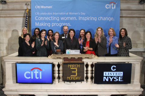 Citi Women rang the closing bell at the New York Stock Exchange to kick off the week leading up to International Women's Day on March 8th. (Photo: Business Wire)