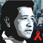 AHF expands its 'AIDS is a Civil Rights Issue' billboard campaign, which first featured Dr. Martin Luther King, Jr., to now include billboards of labor leader Cesar Chavez with the tag, 'SIDA, cuestion de derechos humanos.' (Graphic: Business Wire)