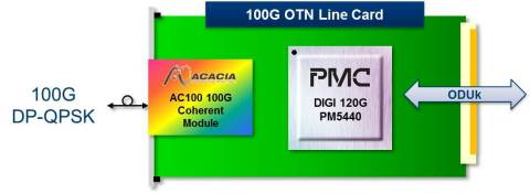 100G OTN Line Card (Graphic: Business Wire)