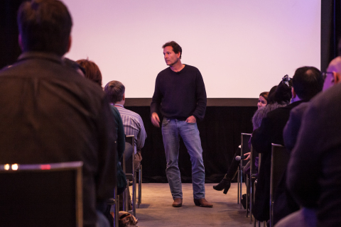Dan Schulman, group president American Express, Enterprise Growth, debuts Spent: Looking for Change documentary trailer at SXSW.  #Spent (Photo: Business Wire)
